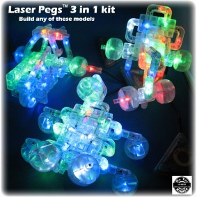 Laser Pegs 3-in-1 Build Kit Discovery Kids